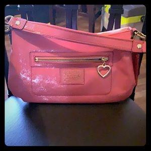 Coral/ Melon Coach bag